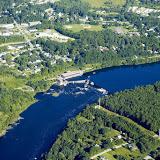 Aerial photo of Penobscot River