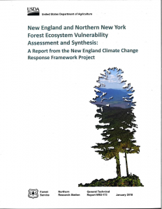 Cover of New England and Northern New York Forest Ecosystem Vulnerability report
