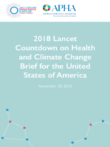 cover of the 2018 Lancet Countodwn on Health and Climate Change Brief