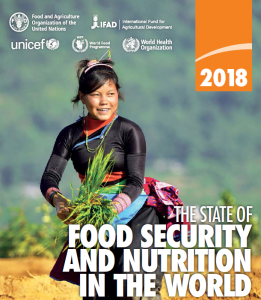 cover shot of the state of food secruity and nutrition in the world document
