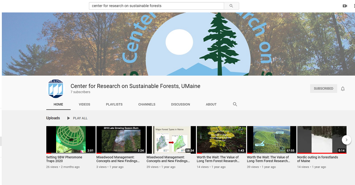 Screenshot of CRSF YouTube Channel